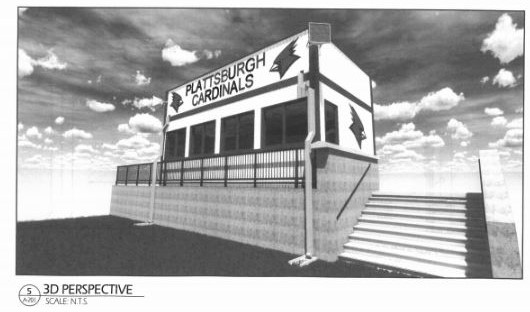 Pressbox replacement drawing- front