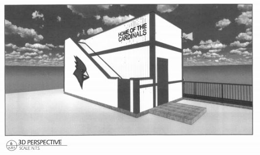 Pressbox replacement drawing- rear
