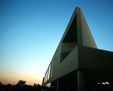 Feinberg Library at Sunset