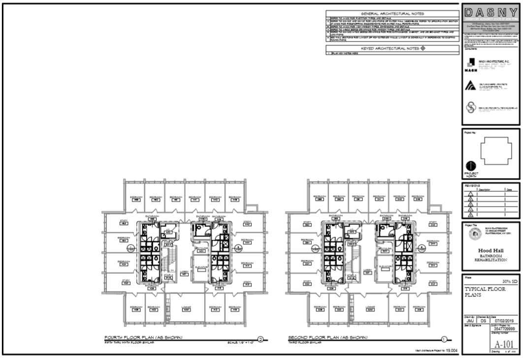 Hood Hall Renovation Floor Plan
