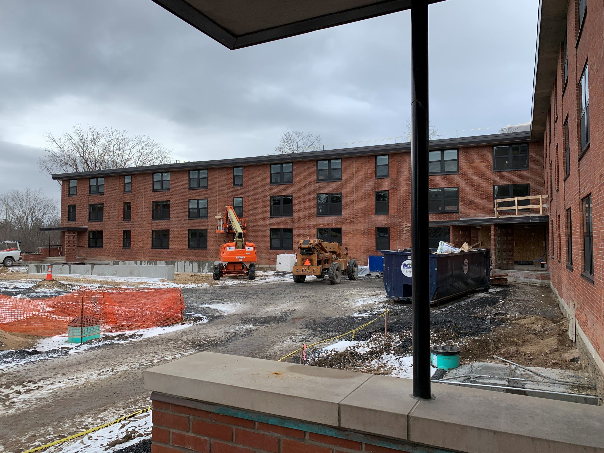 Kent Hall Renovation, Exterior Dec 2019
