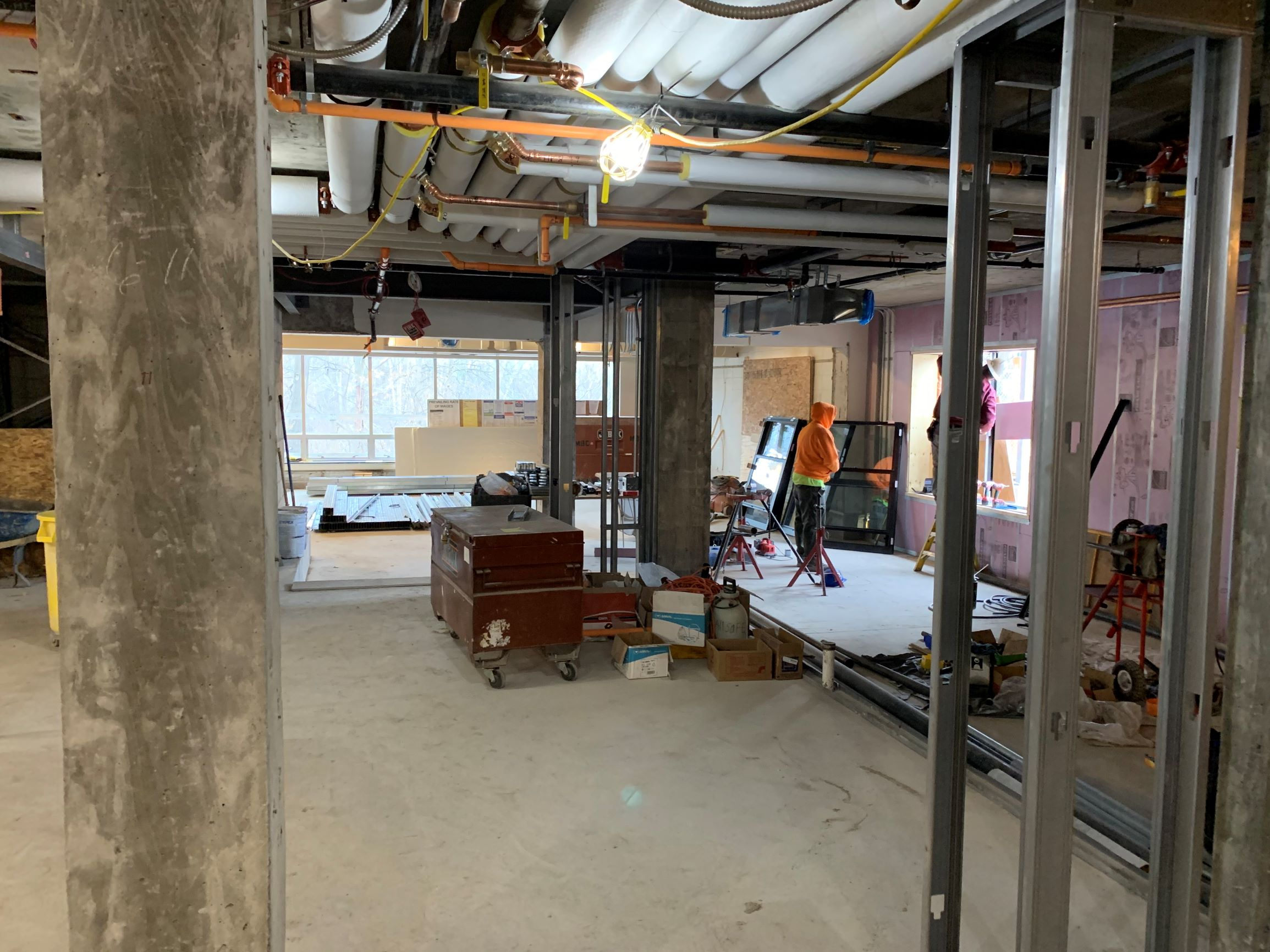 Kent Hall Renovation Dec 2019, Interior