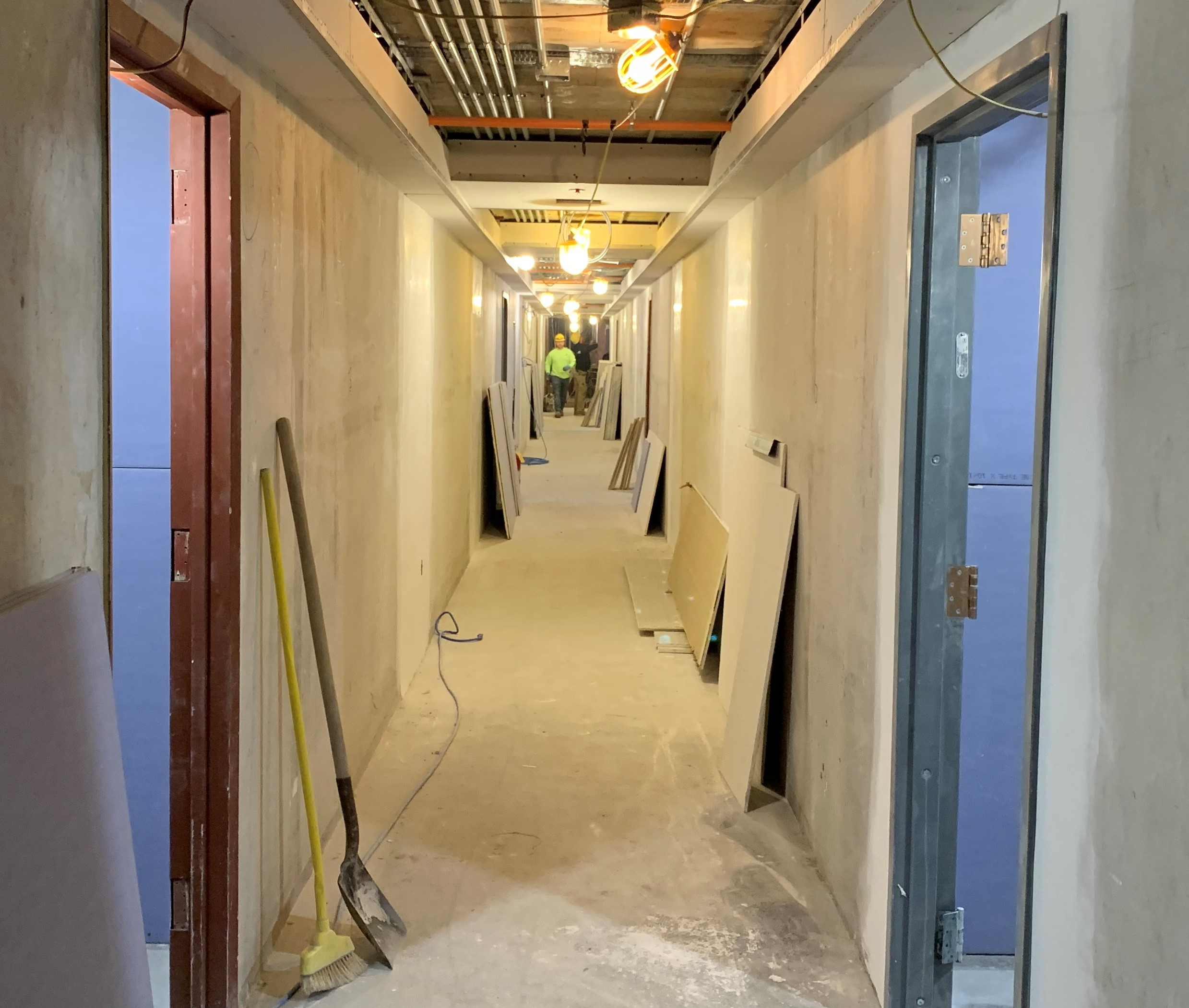 Kent Hall Hallway Interior Under Renovation
