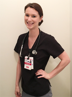 Portrait of Alissa Shinder in her nursing uniform
