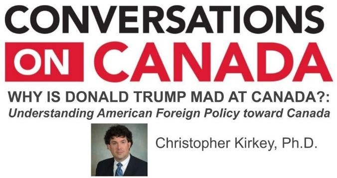 conversations on Canada graphic with image of Christopher Kirkey