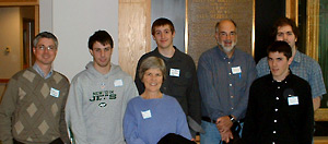 Photo of students and faculty at the second annual St.Lawrence Valley mathematics symposium at Clarkson University