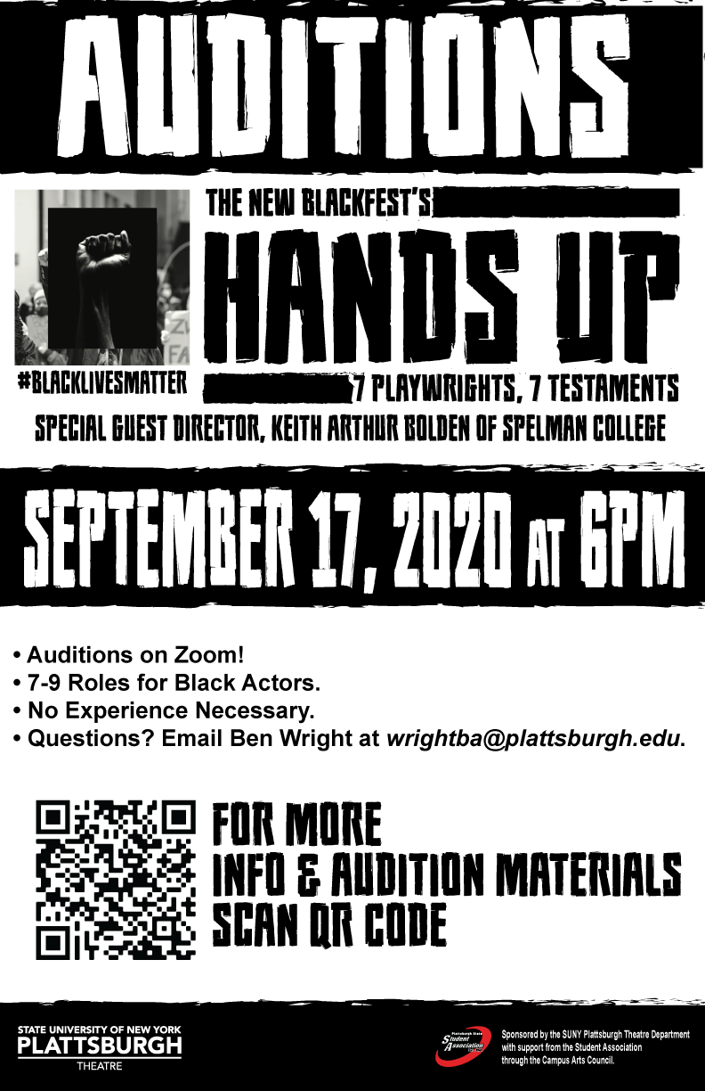 Hands Up Audition Poster