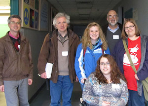 Photo of SUNY Plattsburgh students and faculty who attended the 18th Hudson River Undergraduate Math Conference