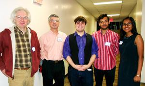 Photo of Professor Reams, Professor Quenell, Nick Harding, Uday Singh, and Namini De Silva at the conference