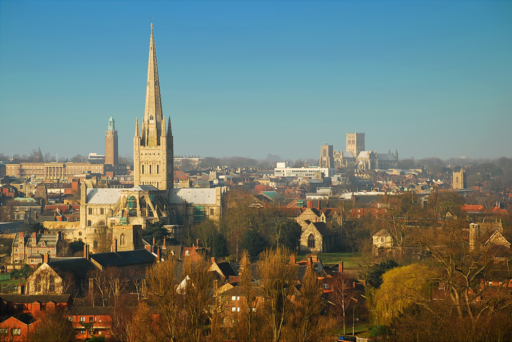 View of Norwich's skyline
