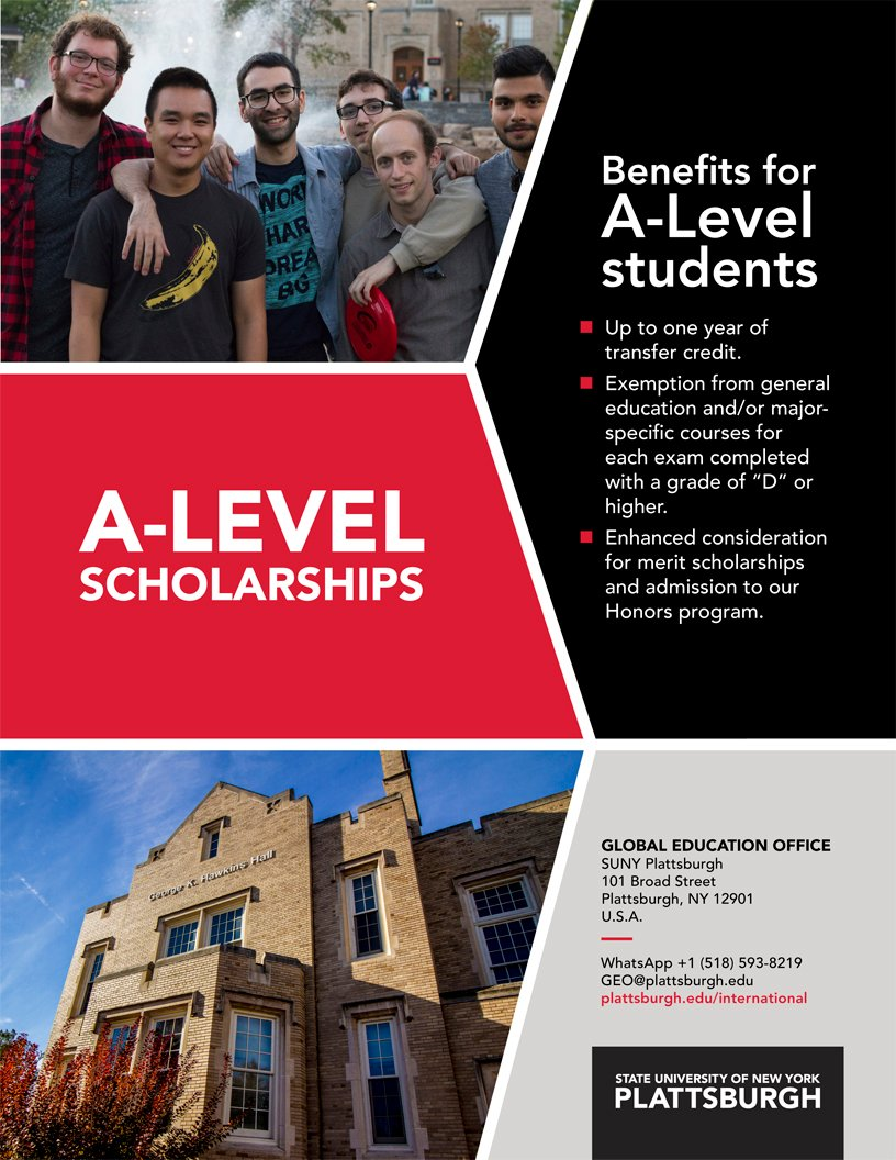 Cover of A-Level (Advanced Level) Scholarships Poster