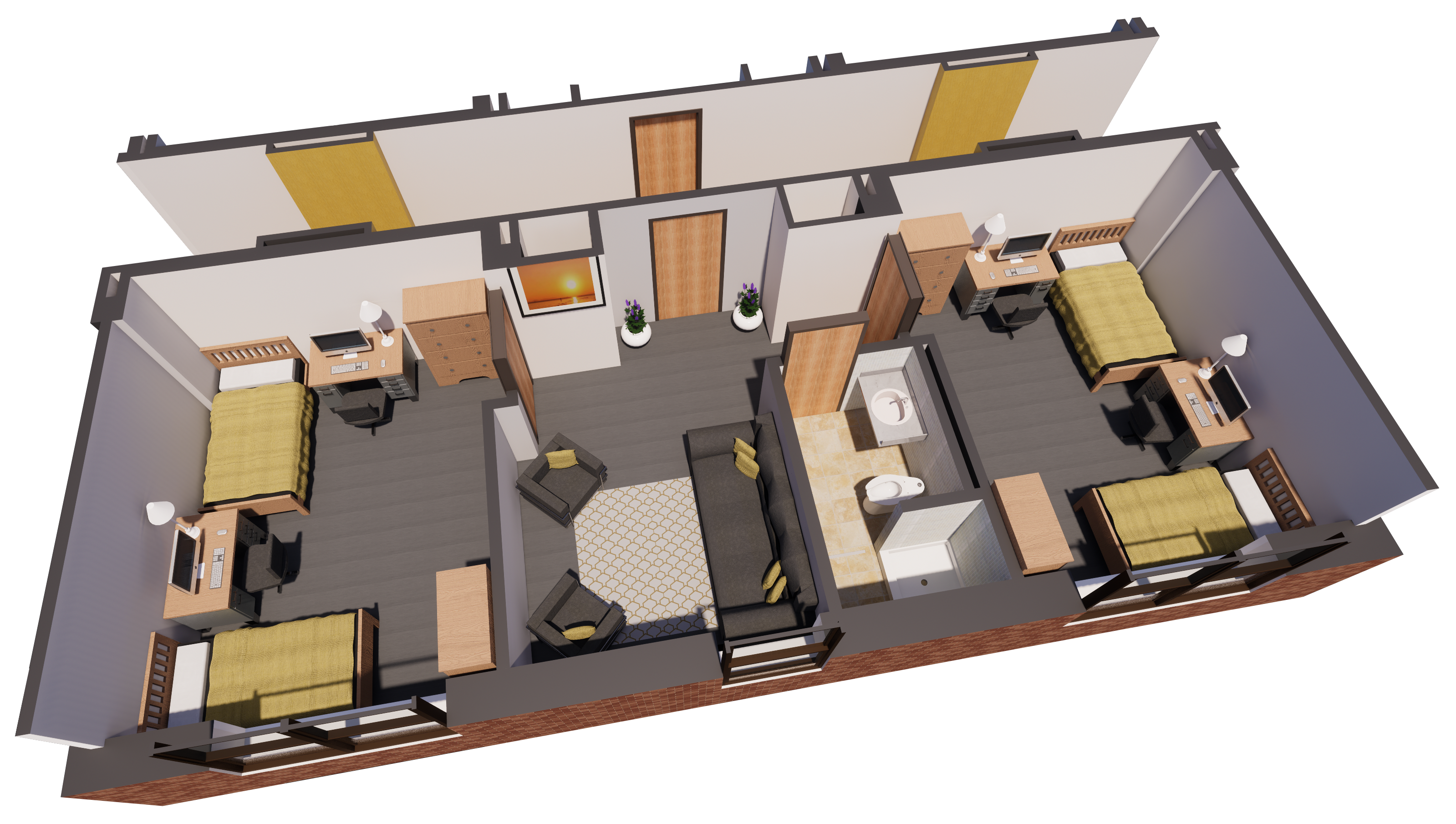 3D rendering of room