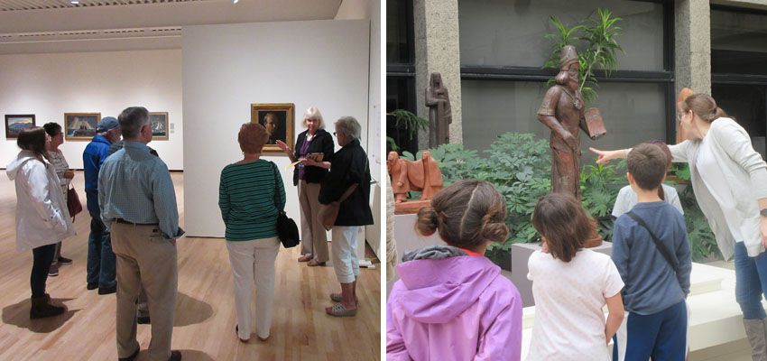 PSAM docents leading tours through the museum