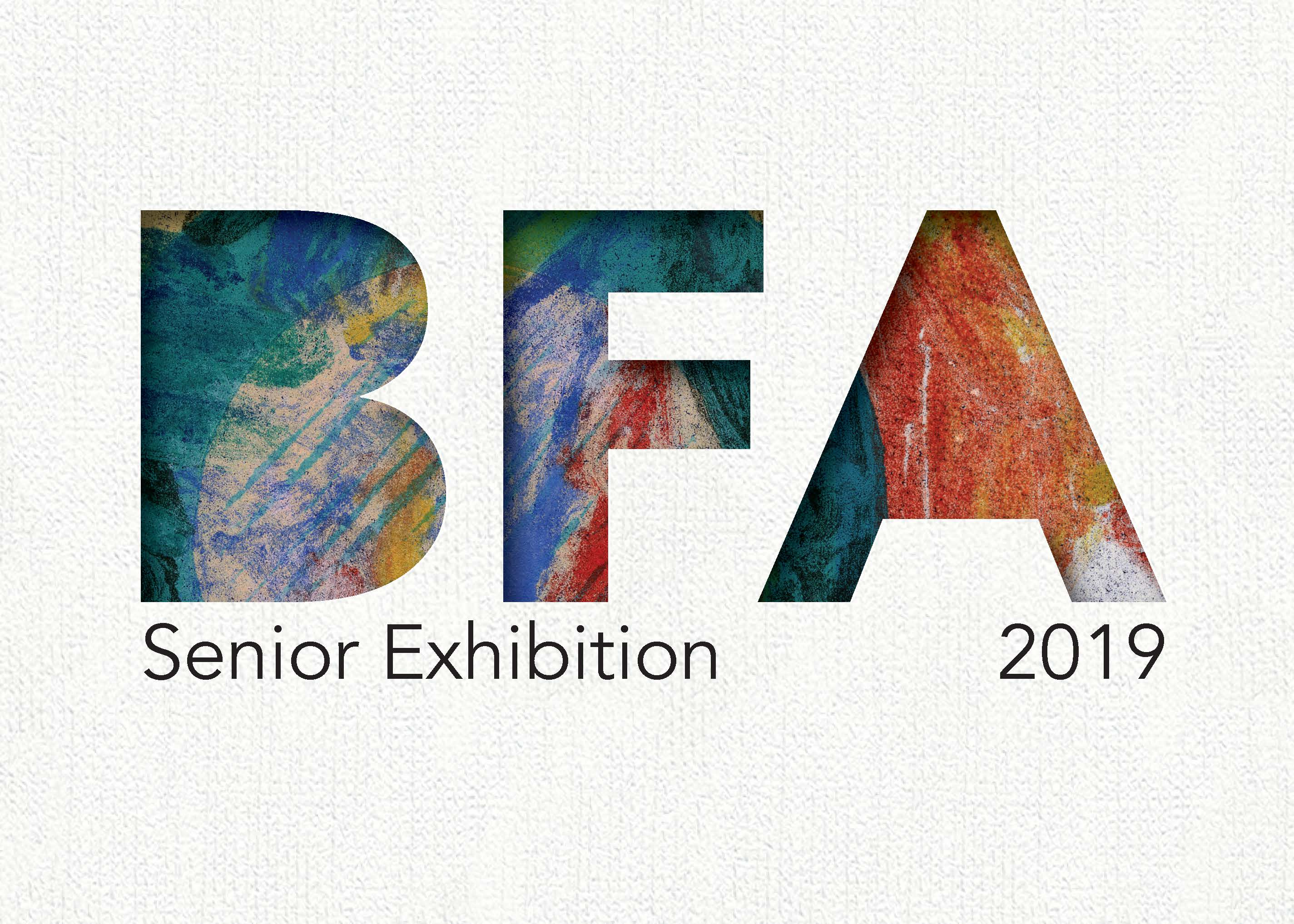 B.F.A. senior exhibition poster