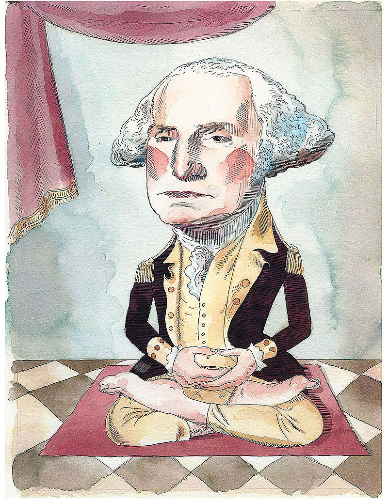 Barry Blitt's cartoon of George Washington