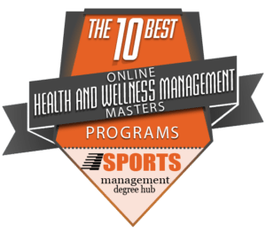 10 best online health and wellness management master's programs badge