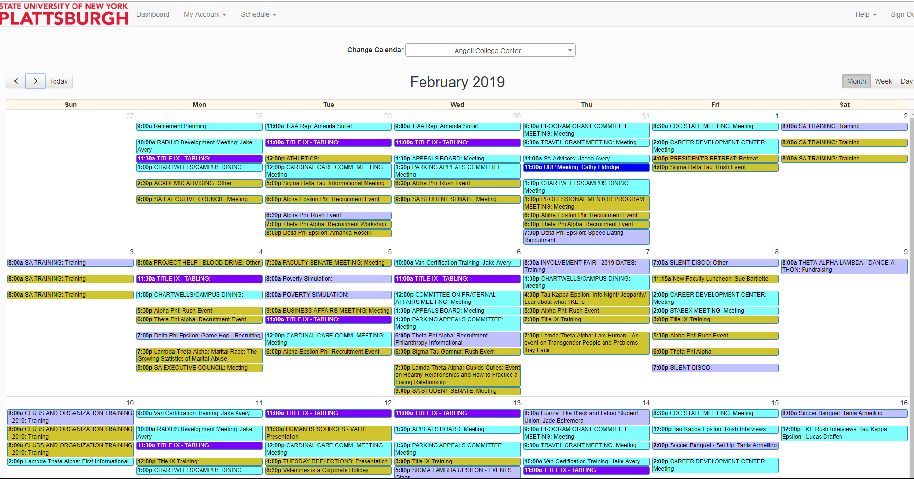 Resource Calendar View