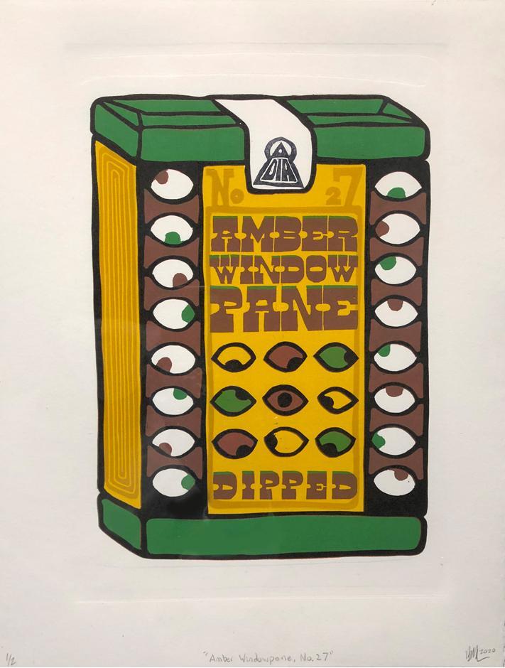 Brian Menia Linoleum Block Print, 2020