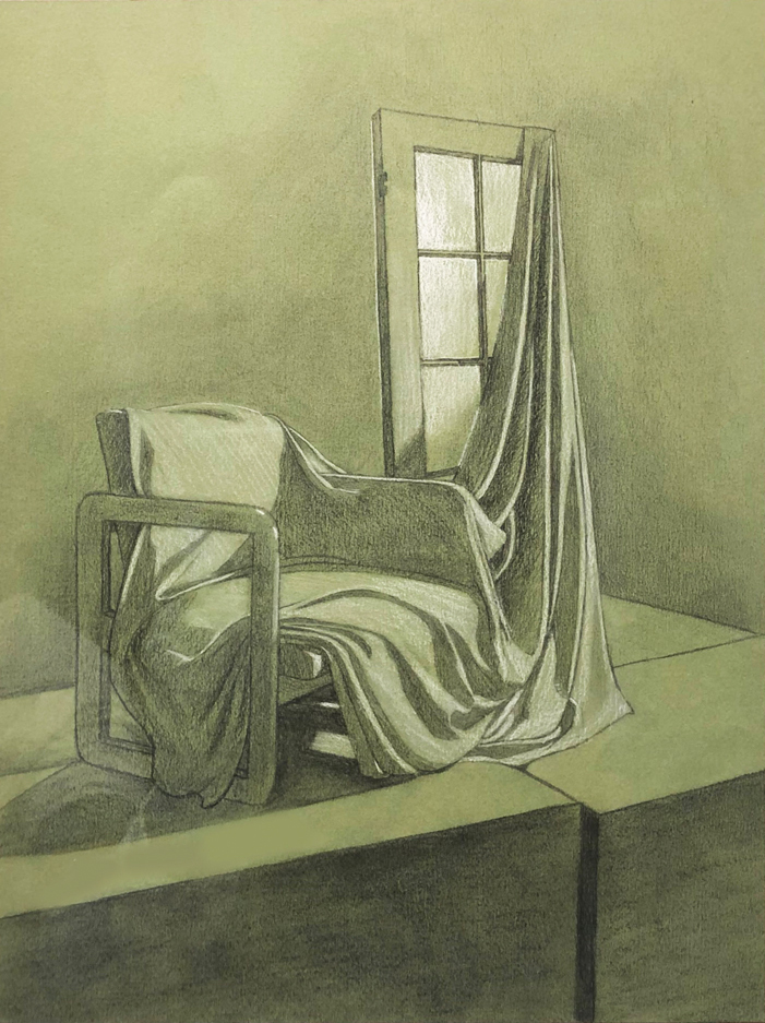 Hannah Austin Graphite and White Charcoal, 2020