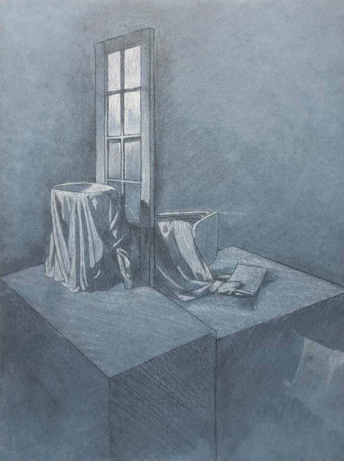 Hannah Austin Graphite and White Charcoal, 2019