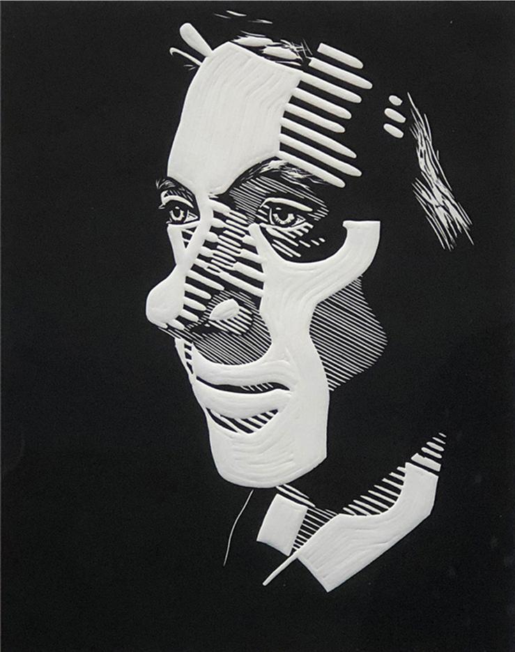 Gregory Gallup Linocut, 2020