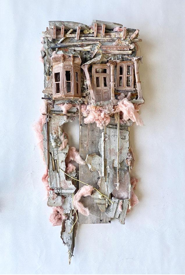 Hannah McCasland Raw Clay, Cement, Wire, Wood, Insulation,  2020