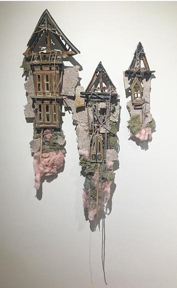Hannah McCasland Stoneware, Insulation, String, Wire, Exterior Sealant, 2020