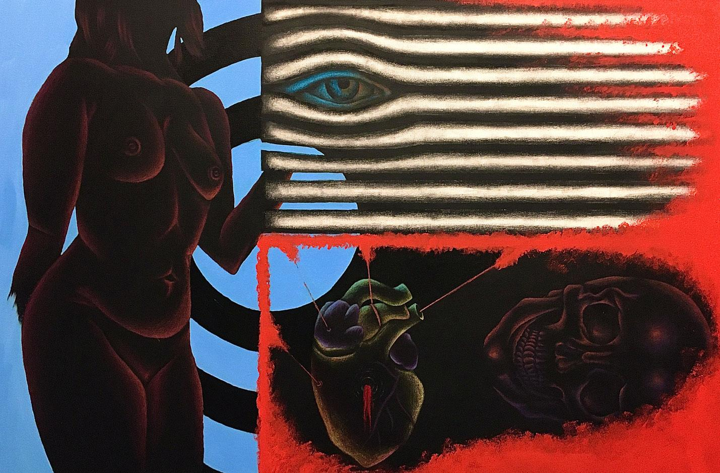 Erika Snyder Acrylic, Colored Pencil, and on Canvas, 2020