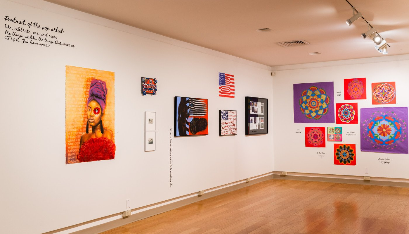 A variety of paintings from the POP for the People, Spring 2021.
