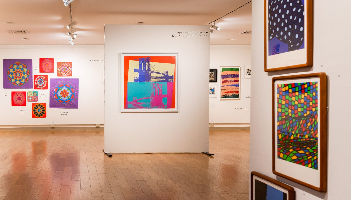 Various colorful paintings from the POP for the People, Spring 2021.