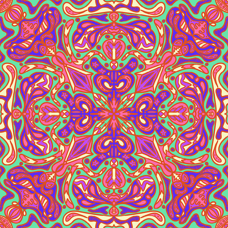Psychedelic multi-color pattern.