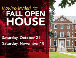 Schedule a camus visitfor Fall Open House