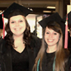 Photo of Annie Lecompte-Maynard '15 with friend at Commencement