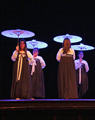 Photo of international students students showcasing their culture.