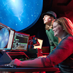 Photo of students working in the Northcountry Planetarium