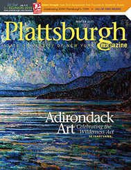 Cover of Winter 2015 Issue of Plattsburgh Magazine