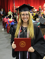 Photo of SUNY Plattsburgh student at Commencement