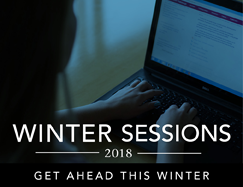 Winter Sessions 2018. Get ahead this winter.
