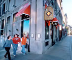 Photo of Plattsburgh State students walking down the streets of old Montreal, Canada