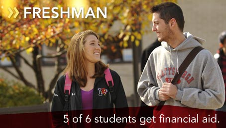 5 of 6 students get financial aid