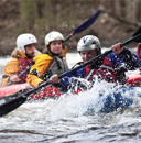 Photo of SUNY Plattsburgh students in kayaks