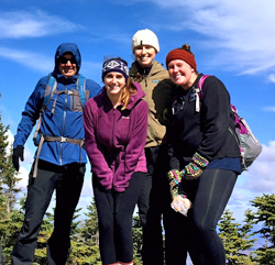 Graduate student hike up Lyon Mountain