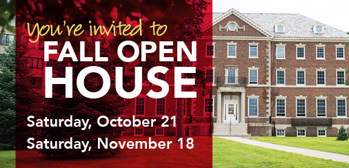 Schedule a campus visit for Fall Open House