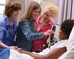 Photo of nursing class at SUNY Plattsburgh