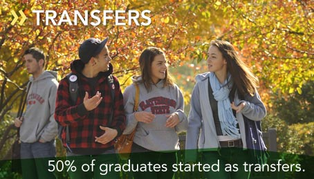 50% of graduates started as transfers