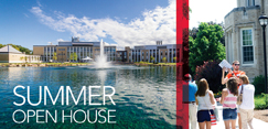 Schedule a visit to campus for Summer Open House