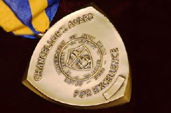 Photo of the Chancelor's Award medallion