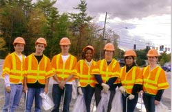 EESC members participating in the Adopt-a-Highway program in Fall 2009