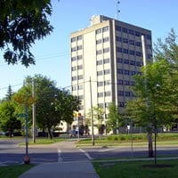 Photo of the Kehoe Administration Building. The Human Resources Office is located on the 10th floor.