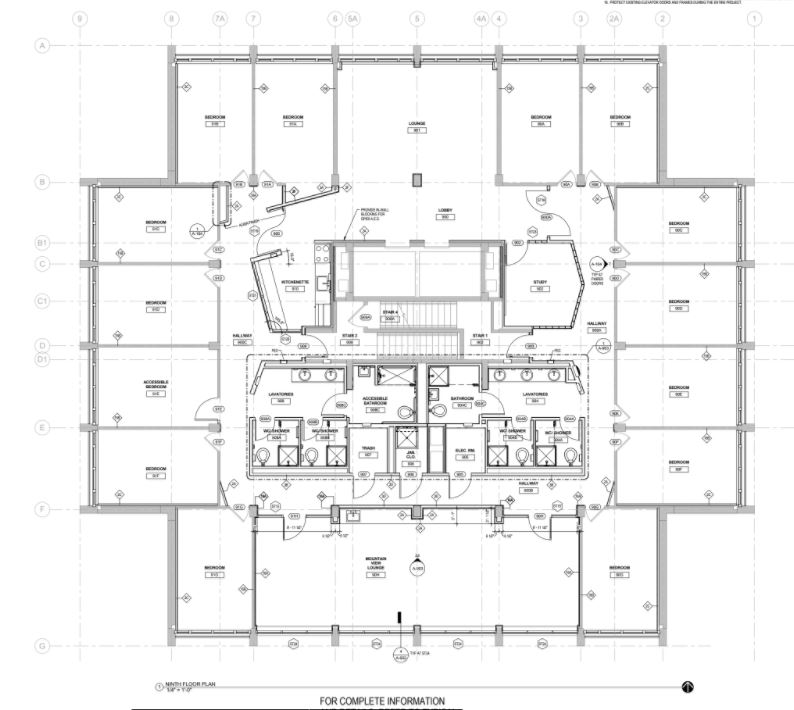 Whiteface Hall Floor Plans Schematic